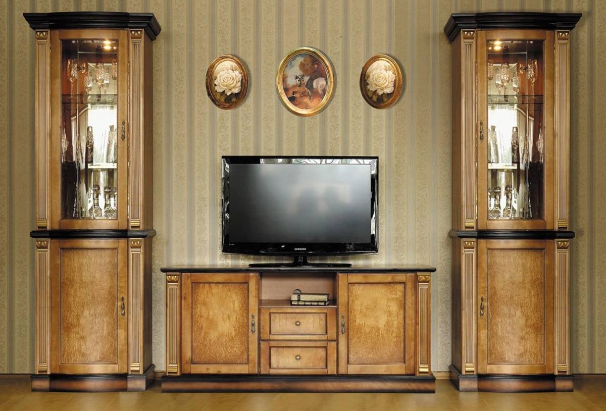 Деревянная мебель в гостиную классического стиля