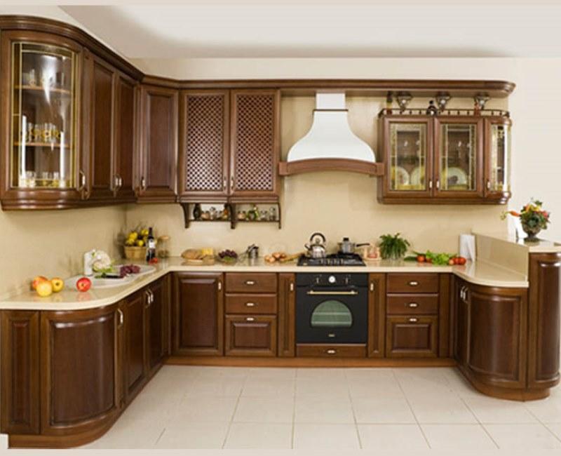 Деревянная модульная мебель для кухни