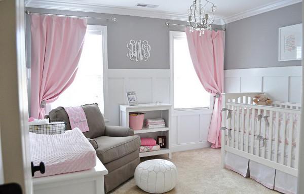 кая белая мебель с розовым