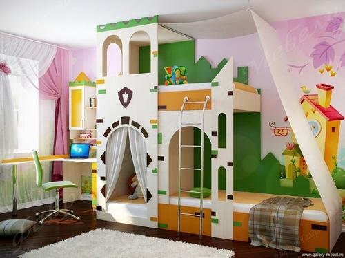 Детская для двух детей в стиле замка