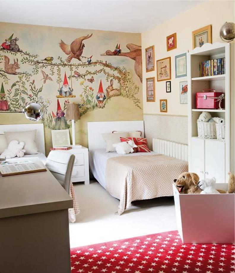 Детская комната двух девочек в сказочном стиле