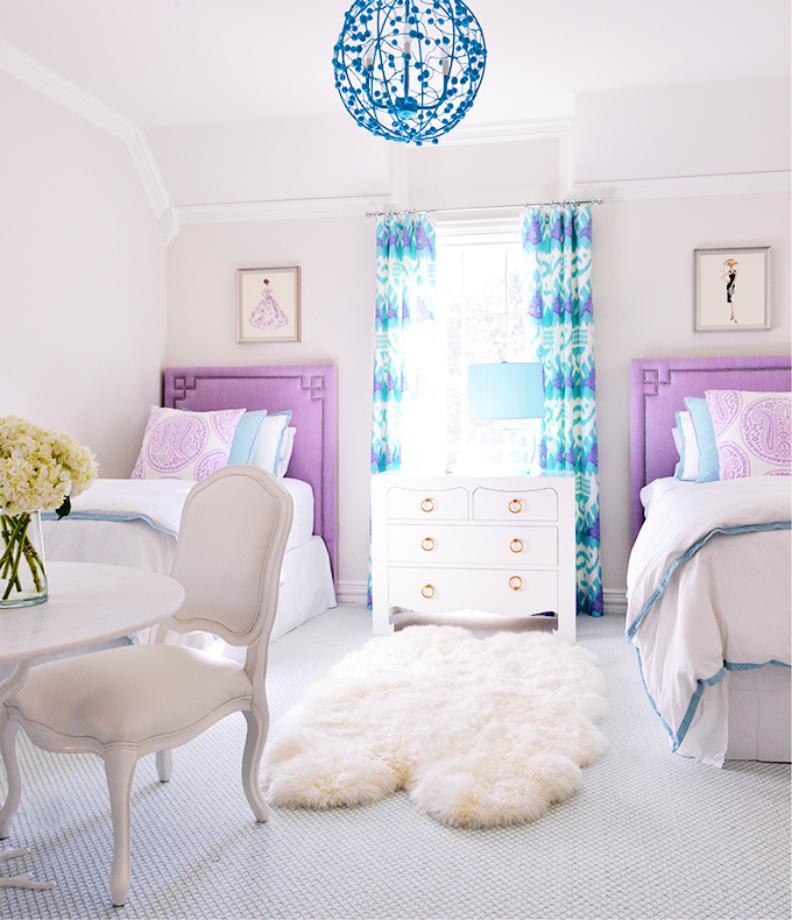 Детская комната двух девочек в стиле арт-деко