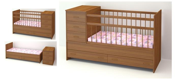 Детская мебель трансформер для малышей