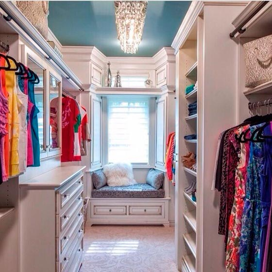 Дизайн небольшой гардеробной комнаты