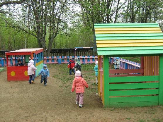 Домики в детском саду