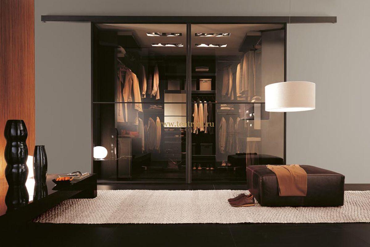 Двери раздвижные для гардеробной с верхней направляющей
