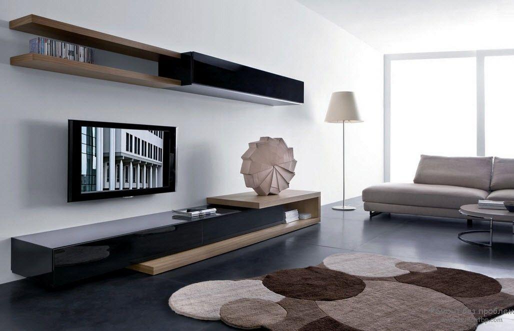 Функциональная мебель для гостиной комнаты в современном красивом дизайне