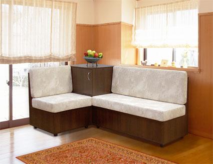 Функциональная мягкая мебель в кухню