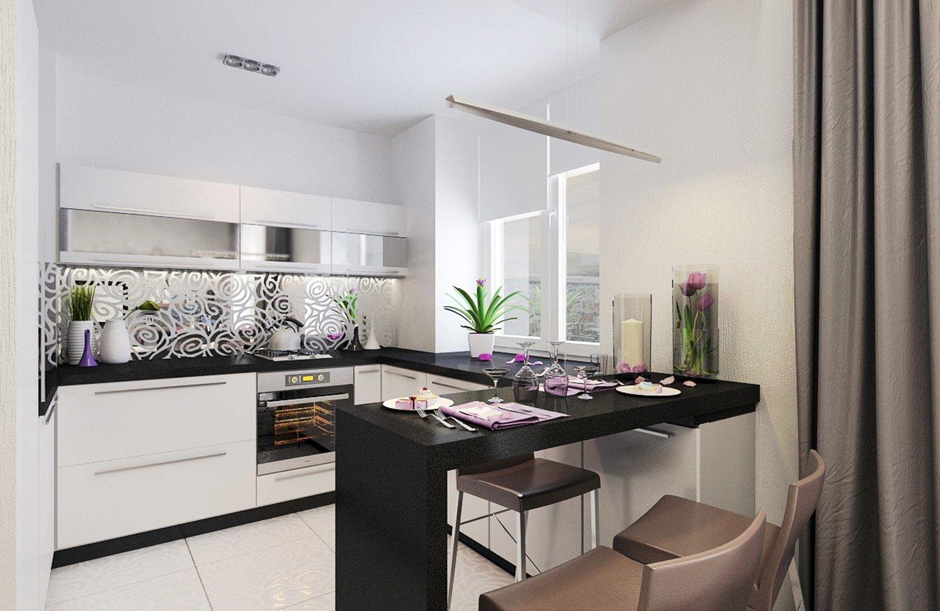 G образная мебель на кухне