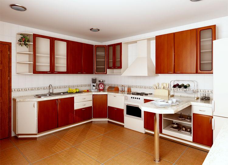 Г образная мебель на кухне