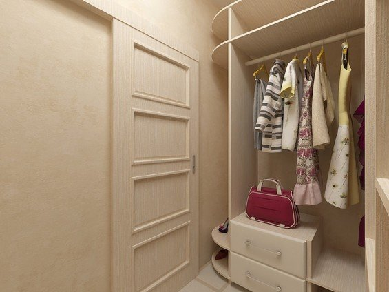 Гардеробная комната в комнате