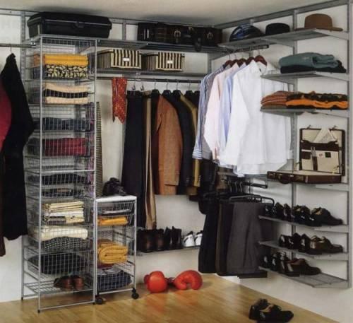 Гардеробные комнаты и стеллажи для одежды
