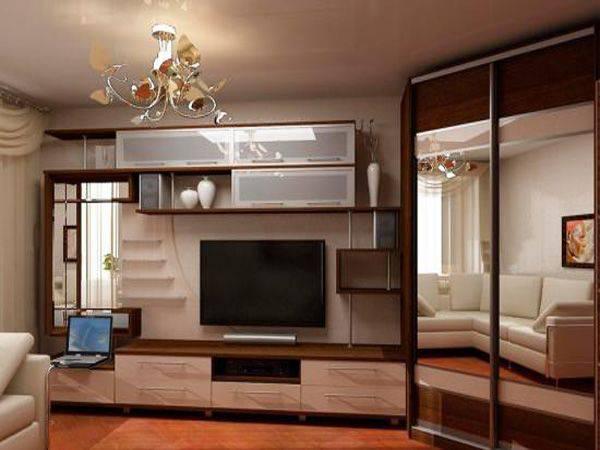 Гостиная, имеющая угловую мебель