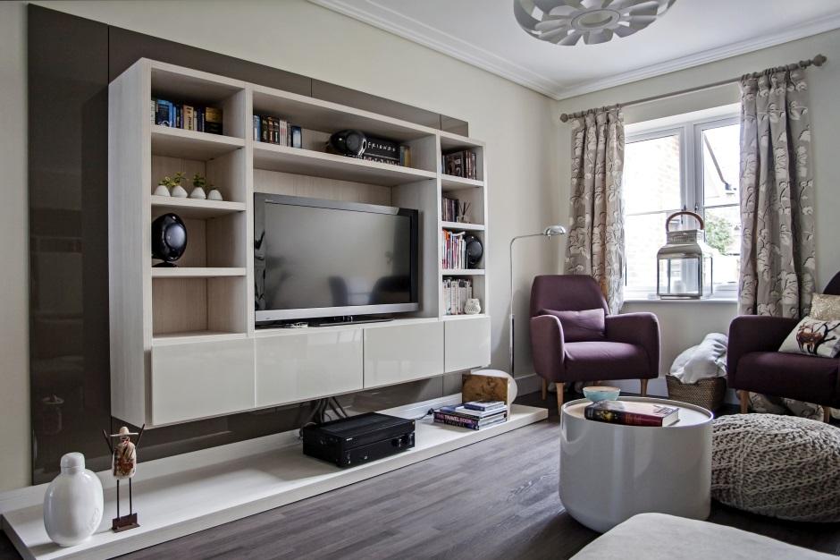 Гостиная с красивой современной мебелью