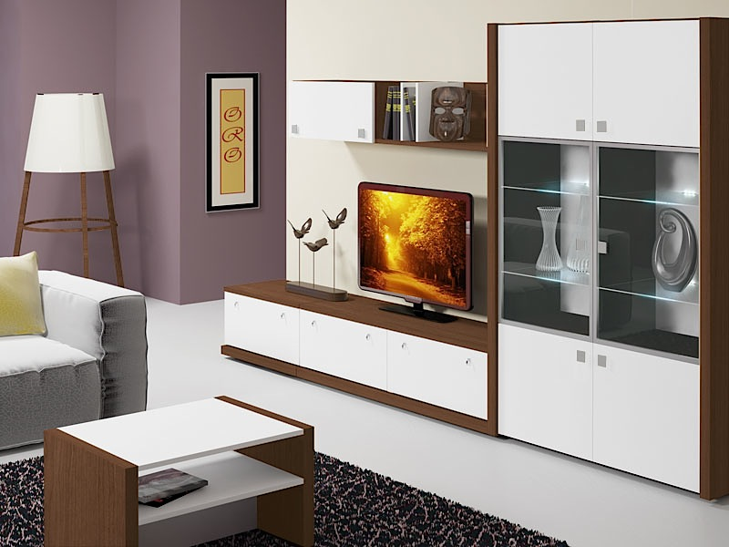 Гостиная с привлекательной модульной мебелью