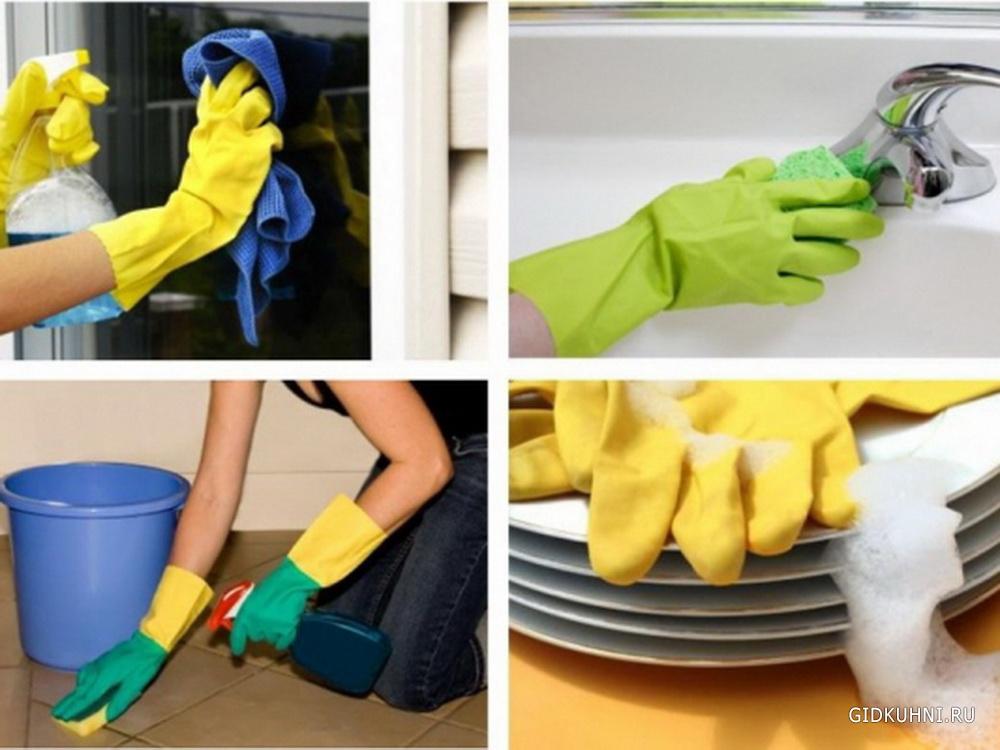 Как очистить кухню от жира