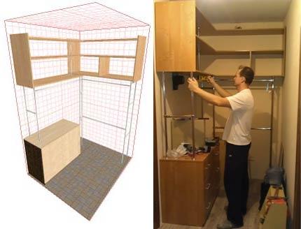 Как провести крепление полок в гардеробе