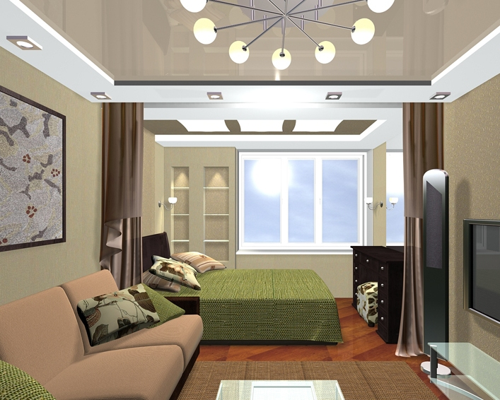 Как создать асимметричное расположение мебели в спальне