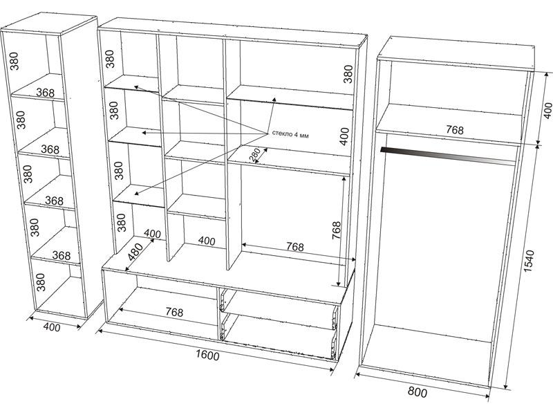 Как создать чертеж мебели