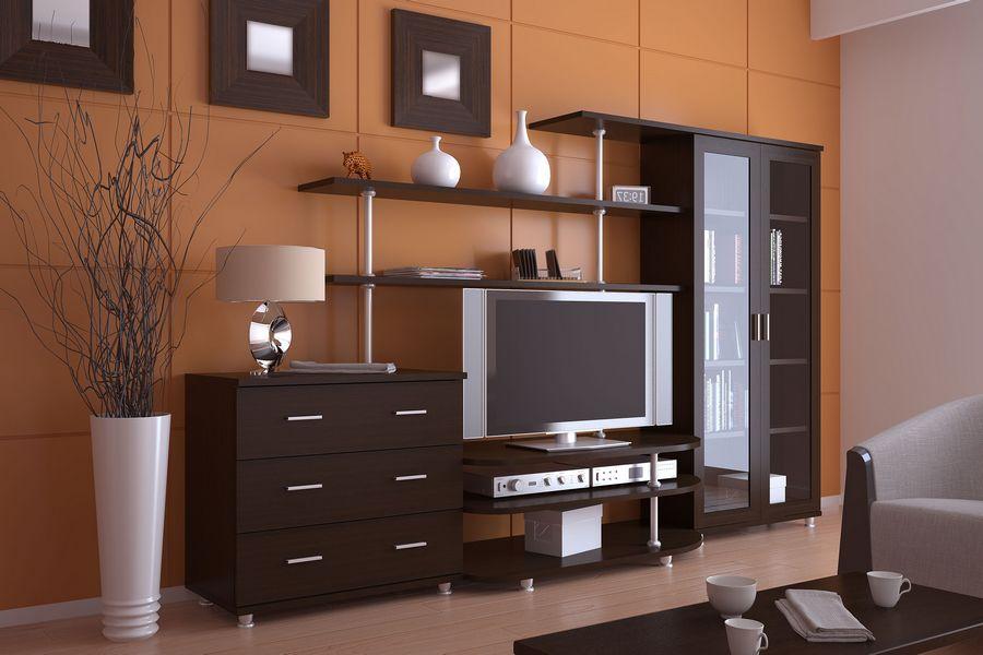 Как выбрать корпусную мебель, оформленную в современном стиле для гостиной