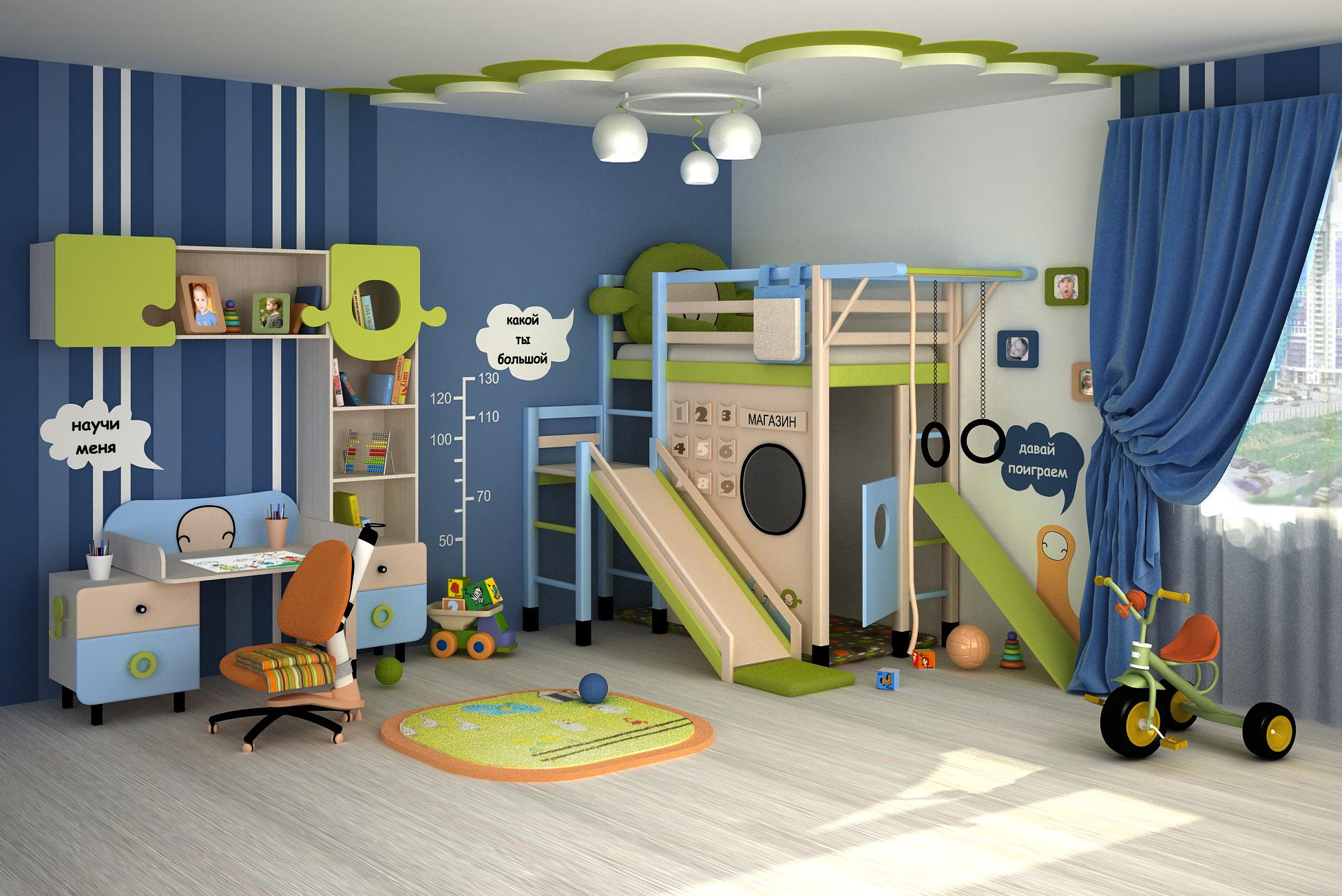 Как выбрать мебель в детскую комнату мальчика