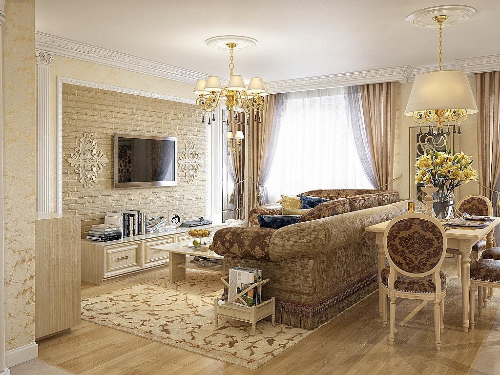 Как выбрать мебель в гостиную классического стиля