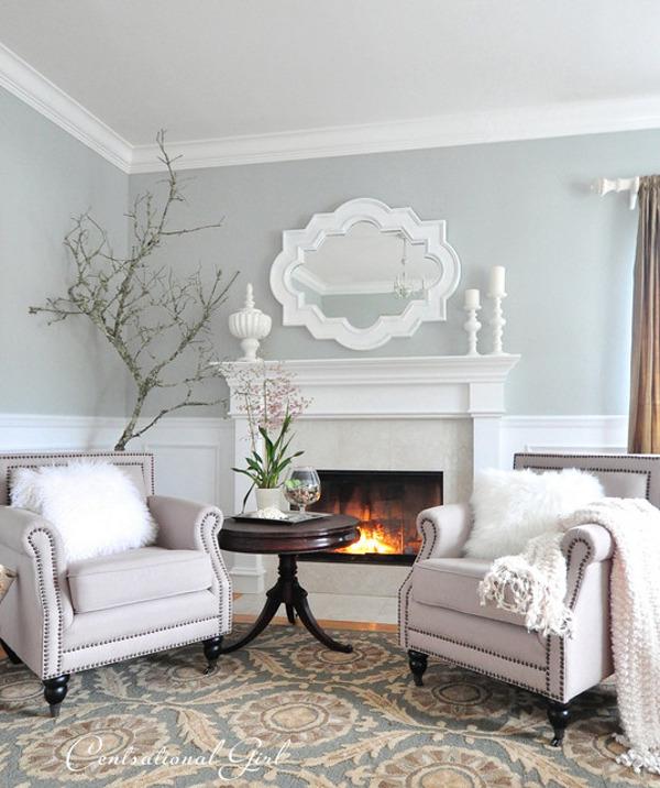 Как выглядит белая мебель в гостиной комнате