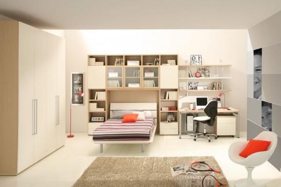 Как выглядит круговое расположение мебели в спальне