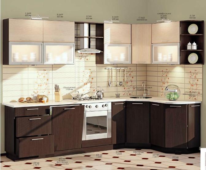 Как выглядит модульная мебель для кухни