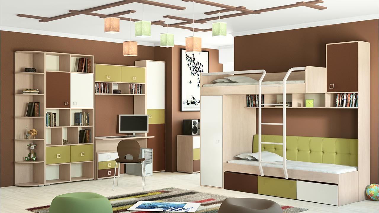 Классическая детская модульная мебель