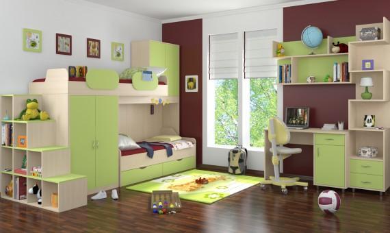 Комната для малышей с удобной мебелью