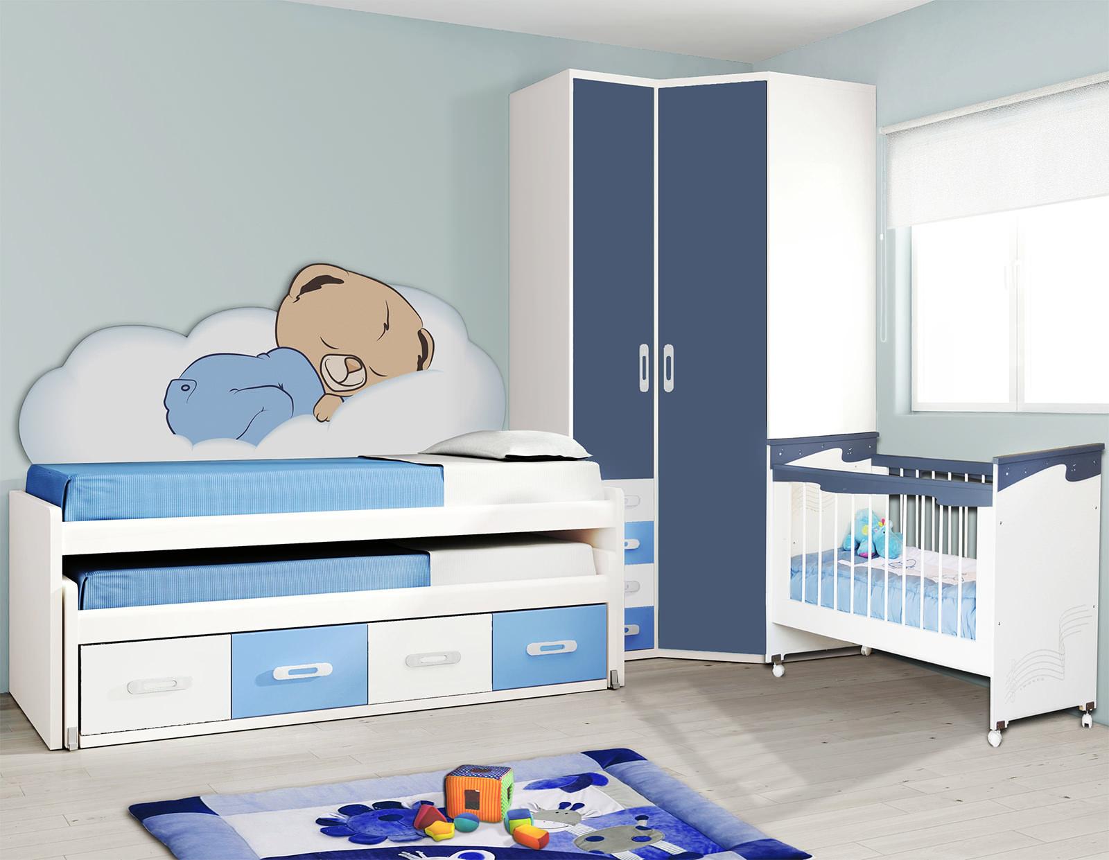 Компактная детская белая мебель в интерьере