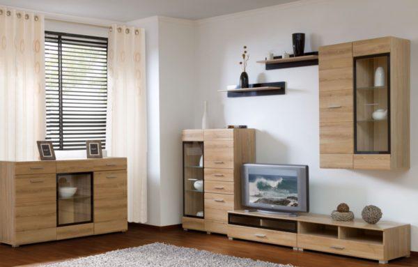 Компактная мебель в современном стиле для гостиной
