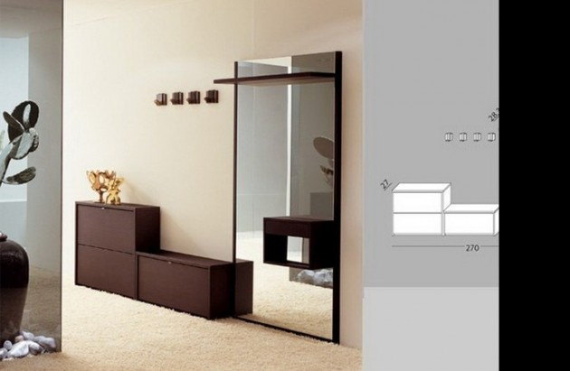 Компактное размещение предметов в комнате