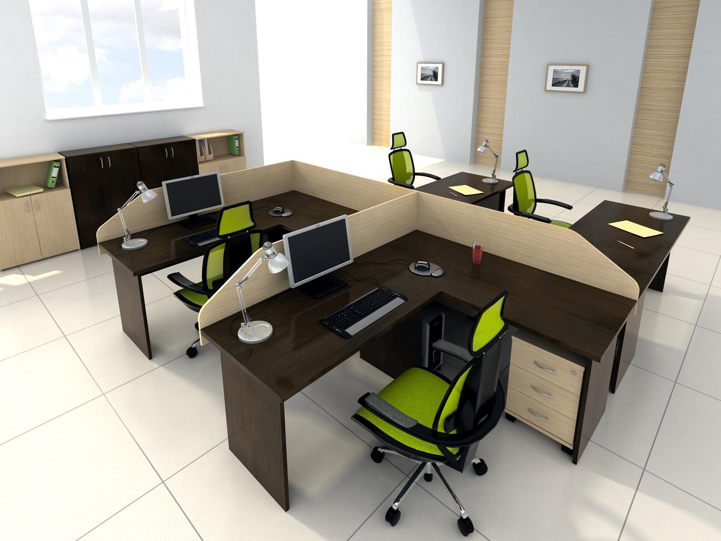 Мебель коричневого цвета