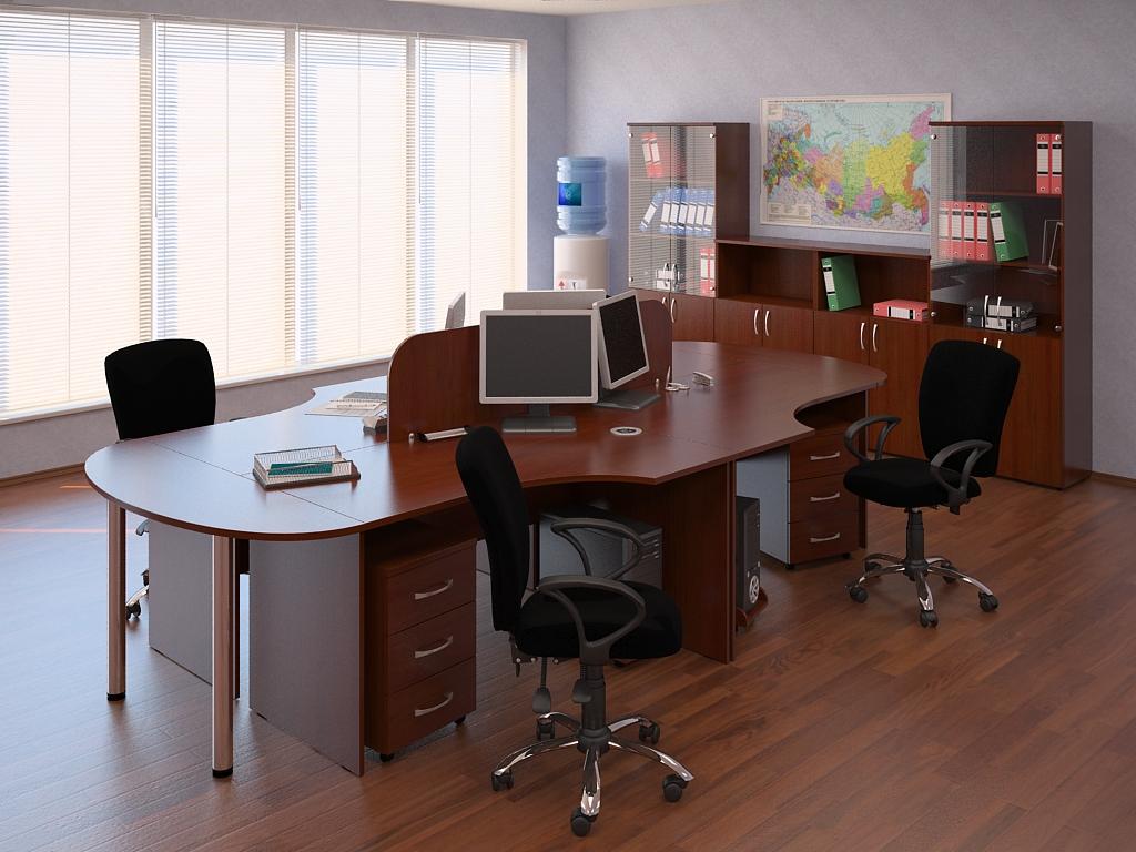 Темная офисная мебель
