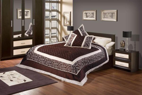 Коричневая мебель для спальни