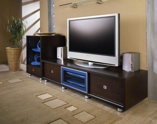 Коричневая мебель под телевизор