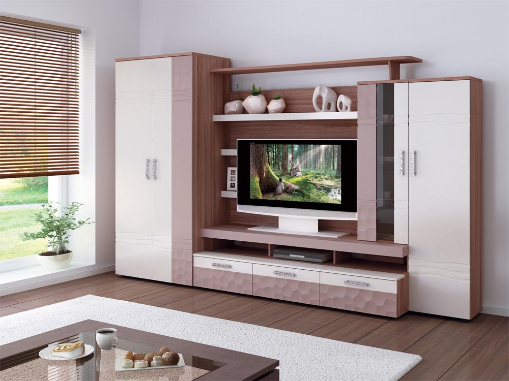 Корпусная мебель для обустройства гостиной комнаты