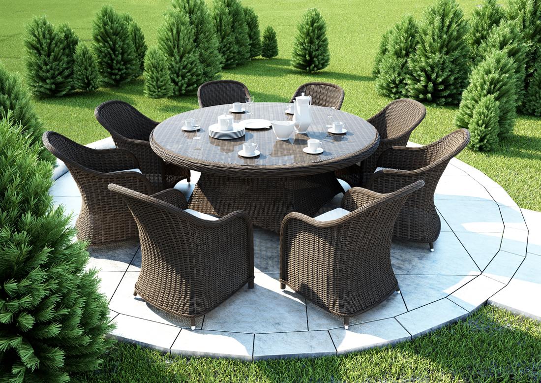 Корпусная садовая мебель из искусственного ротанга