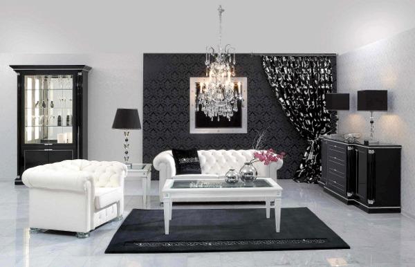 Красивая белоснежная мебель для комнаты