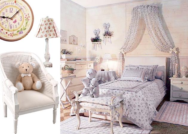 Красивая детская мебель в стиле прованс для девочки