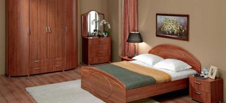 Красивая и оригинальная мебель цвета вишни