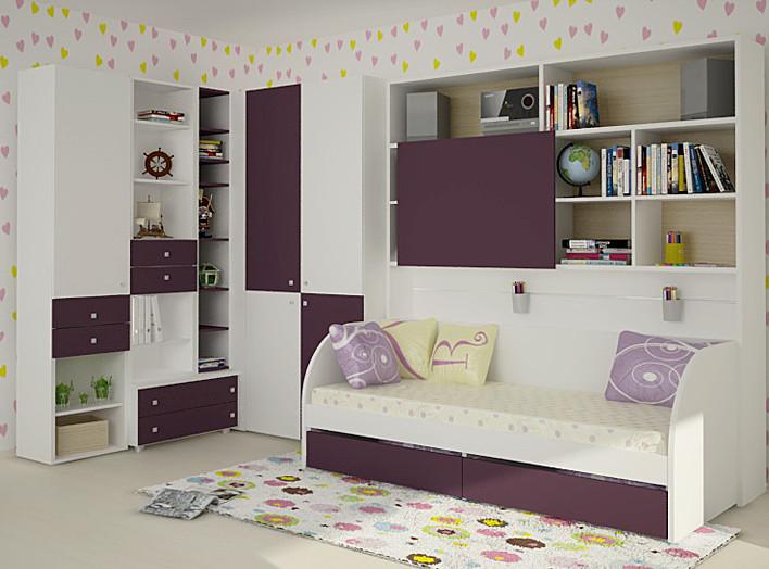 Красивая и современная мебель белого цвета для детской