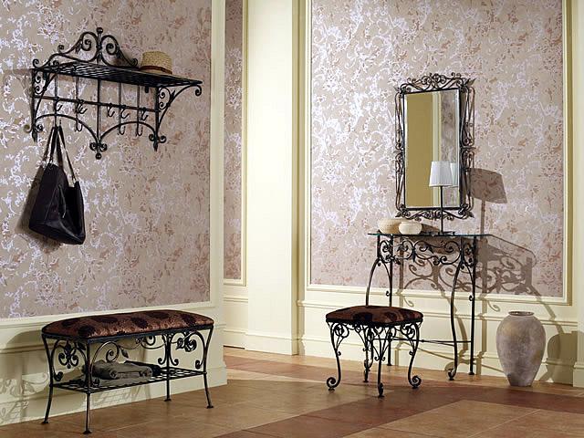 Красивая кованая мебель для прихожей