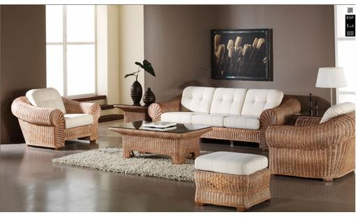 Красивая мебель, созданная из ротанга