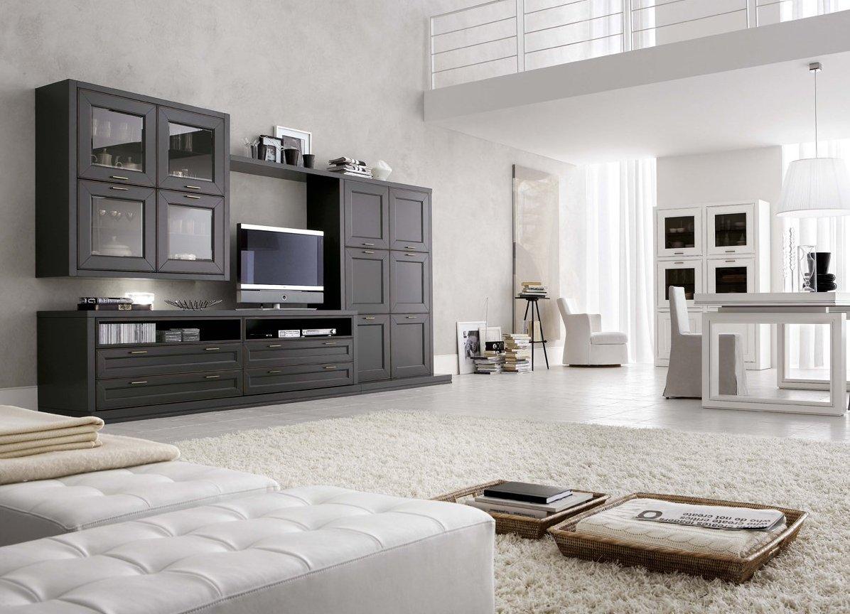 Красивая мебель в современном стиле для просторной гостиной