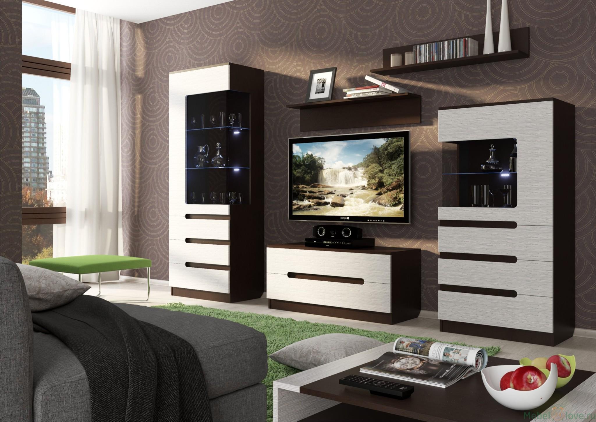 Красивая модульная мебель для гостиной коматны
