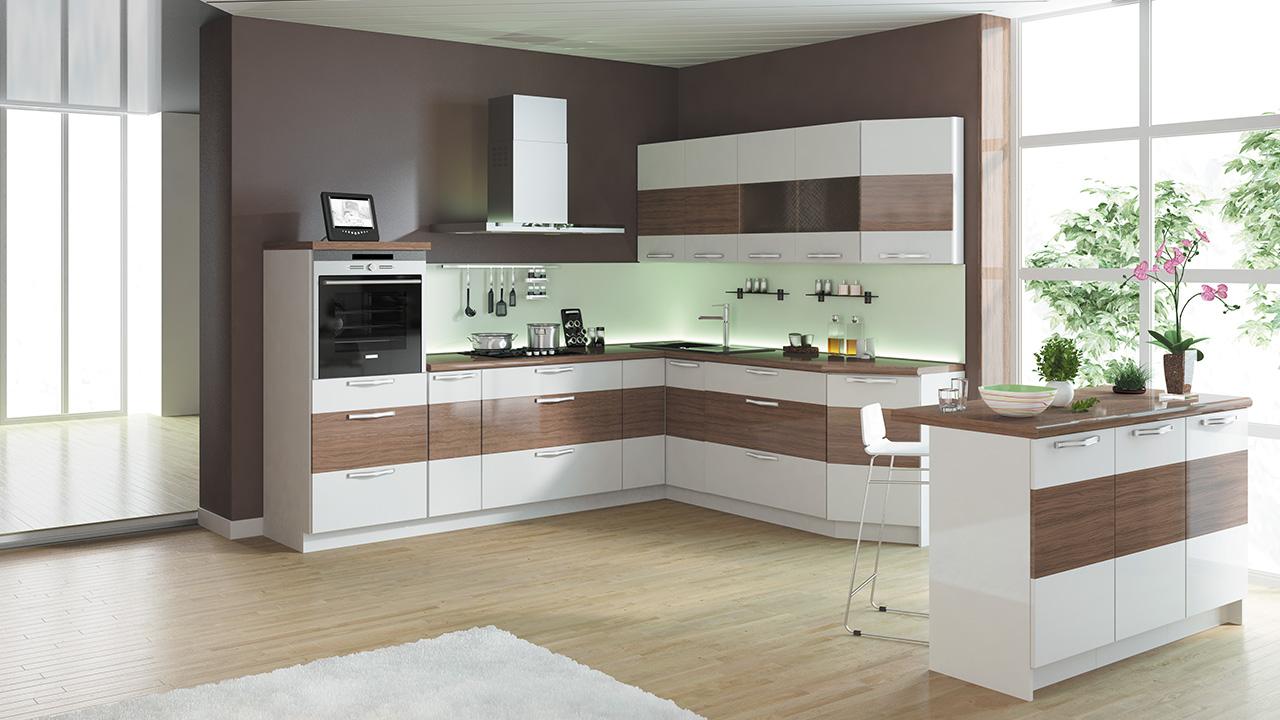Красивая модульная мебель для кухни