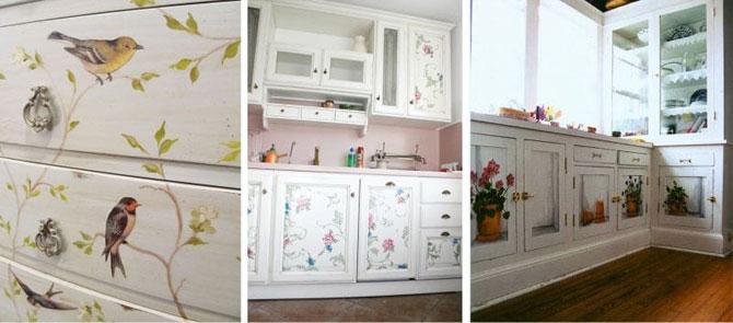 Красивая реставрация кухонного гарнитура в доме